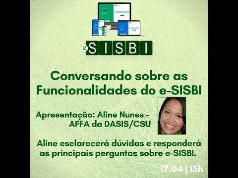 e-SISBI: Funcionalidades treinamento