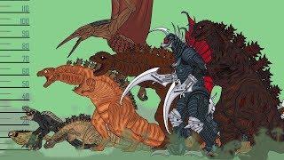 Размеры монстров (ASM) / Monsters Size Comparison (ASM) - Shin Godzilla Evolution