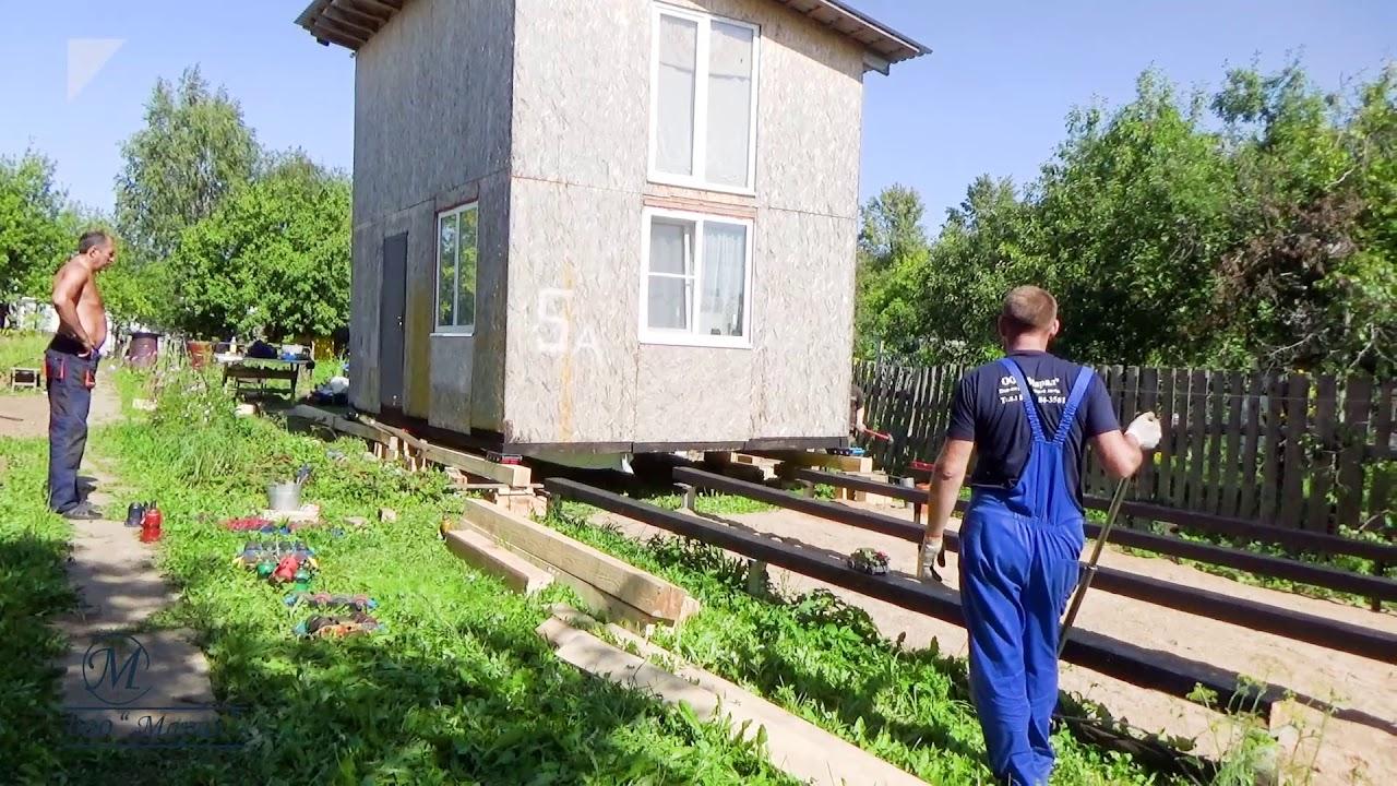 Перемещение дома на свайный фундамент