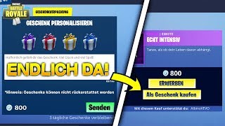 GIFT SYSTEM IS NOW ONLINE! Give Away Skins in Fortnite [ENGLISH]