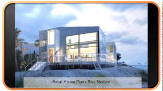 Small House Plans Blue Modern