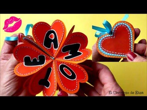 Tarjeta mini lbum para san valentin tarjeta sorpresa - Album para san valentin ...