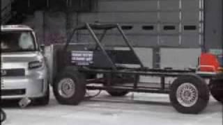 Crash Test 2008 - 2009 Scion XB / Toyota Bb / Daihatsu Coo / Materia (Side Impact) IIHS