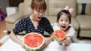 여름에는 수박이죠!! 서은이의 애플수박 수박 슬라임 수박 영상 모음 Special Watermelon Videos