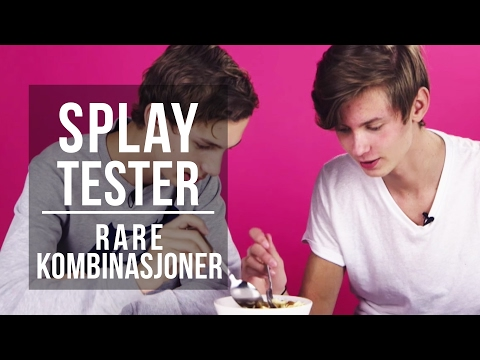 """Rare Kombinasjoner   """"Jeg føler at det er en snegle med skall""""   Splay Tester"""