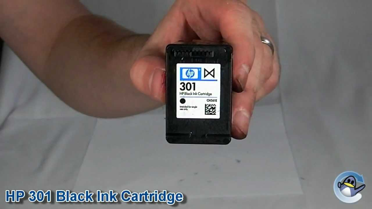 inside hp 301 black ink cartridge youtube