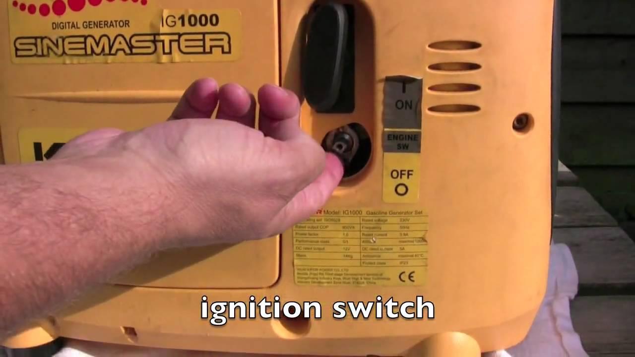 Kipor Generator Start Problem Ignition Switch Blocked Youtube Wiring Diagram