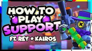 Tips for SUPPORT in GEM GRAB w/ Rey and Kairos | Brawl Stars Let's play Epi. 10