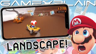 Let's Try Mario Kart Tour's NEW Landscape Mode Update!