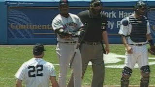 Bonds hit by pitch from Clemens