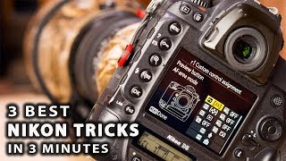 3 BEST NIKON TRICKS IN 3 MINUTES | best custom settings for wildlife photography [photo friday]