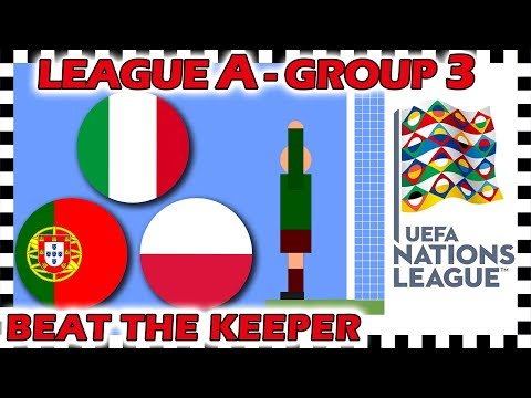 Marble Race - UEFA Nations League 2018/19 Prediction - League A - Group 3 - Algodoo