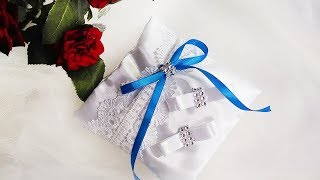 как сшить свадебную подушку для колец своими руками   Jo Handmade