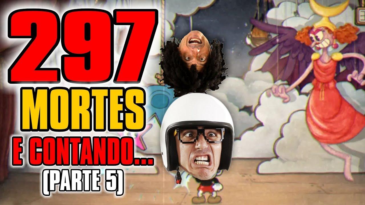 Cuphead - 297 MORTES E CONTANDO (PARTE 5 ) CHEFE Ribomba na Ribalta #ps4live Irmãos Piologo Games