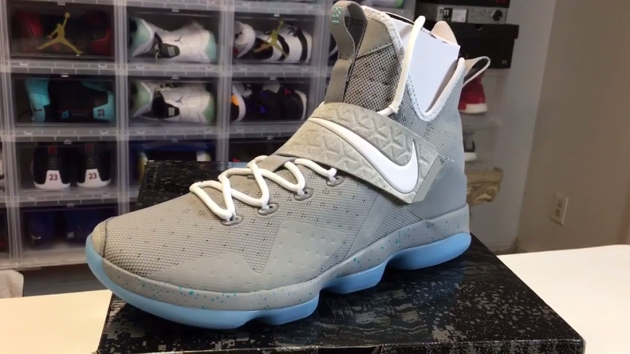 90de38c995661 NIKE LEBRON 14s Air Mag REVIEW - YouTube