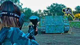 PAINTBALL Trick Shots Battle (CHICAS vs CHICOS)
