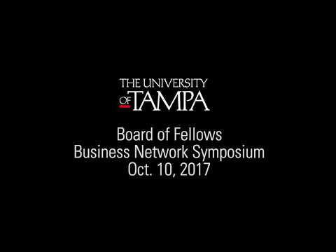 The University of Tampa - Business Network Symposium Fall 2017 - Tommy Inzina MBA '98