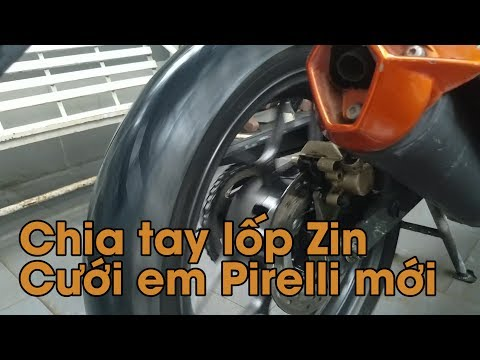 Review lốp Pirelli - Chia tay lốp zin Winner 150