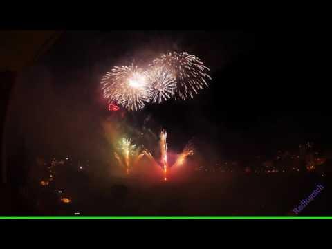 Swiss National Day Fireworks -Interlaken 1st August 2016 4K UHD