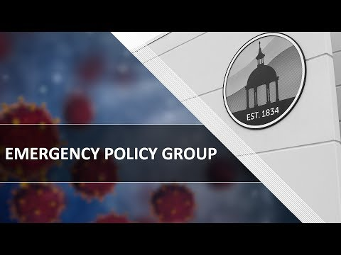 Emergency Policy Group - 03.23.2020