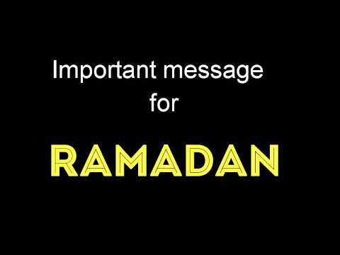 Important message for RAMADAN (RAMADAN SPECIAL) BY Friendz Vynz