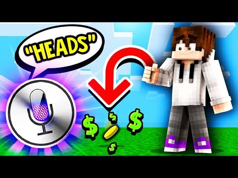 SIRI DECIDES HEADS OR TAILS FOR COIN FLIP BETS! (Minecraft Skyblock)