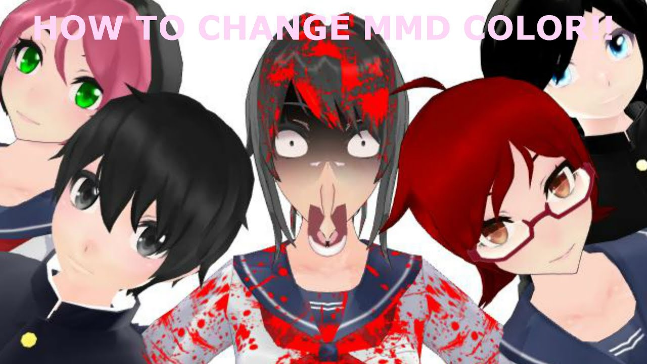 how to change the mmd colors