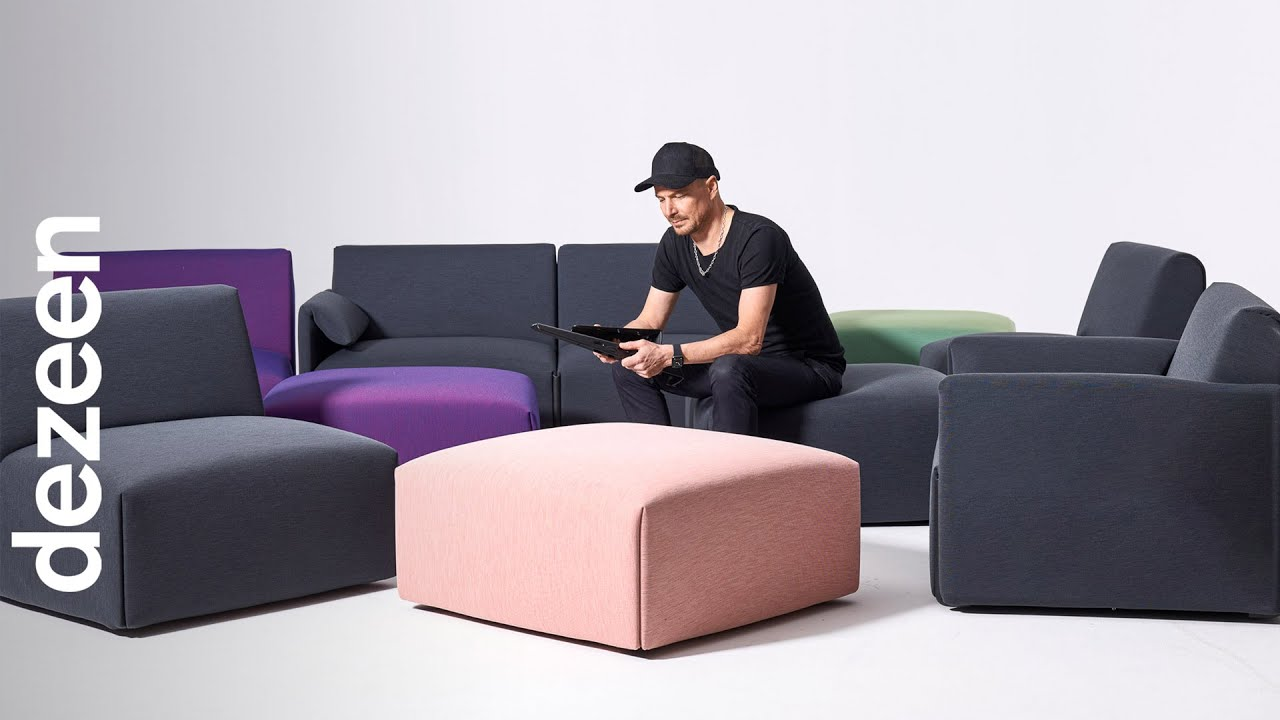 Stefan Diez's sofa for Magis is designed to \