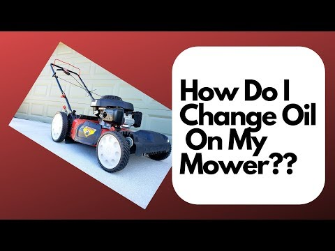 How to change oil on my lawn mower?