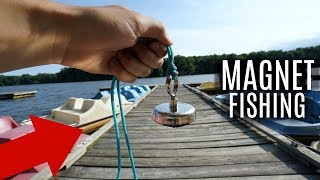 Magnet Fishing a Popular Fishing Dock!! (Treasure Hunting)