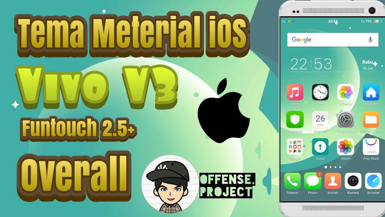 (Tema) Material iOS Vivo V3, Y55, Y53, Y35 - Funtouch 2 5+