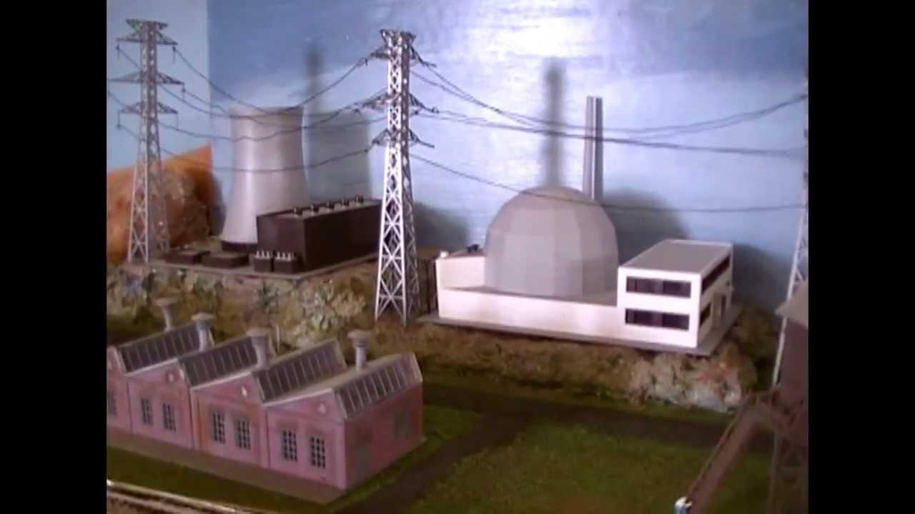Model Railroad Scenery Idea Nuclear Power Station