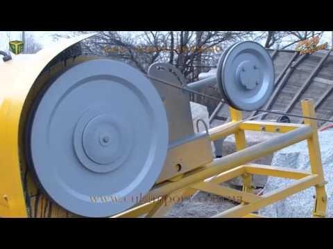 WS-11 канатная машина для распиловки камня алмазным канатом
