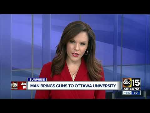 PD: Man detained for trespassing on Ottawa University Campus, 2 guns found in car
