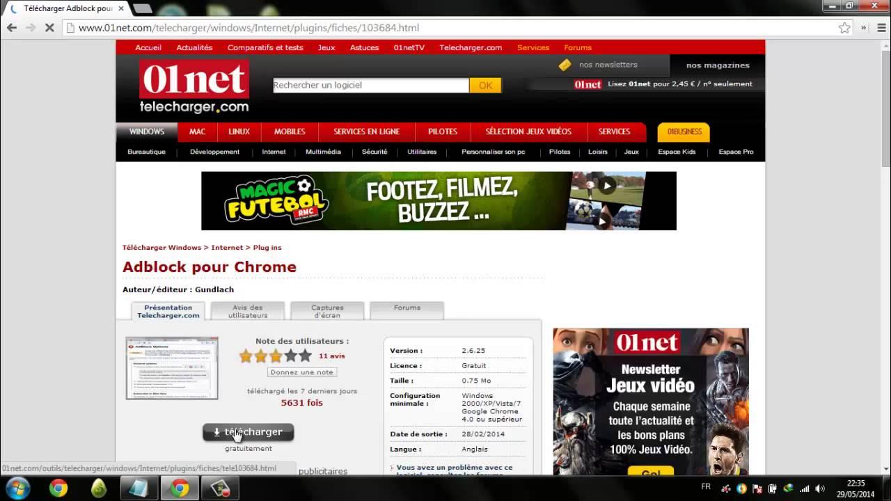 adblock pour chrome 01net