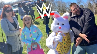 EMBARRASSING FATHER RUINS EASTER EGG HUNT! CRINGIEST WWE FIGURES UNBOXING EVER!