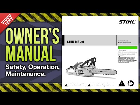 Owner's Manual: STIHL MS 201 Chain Saw