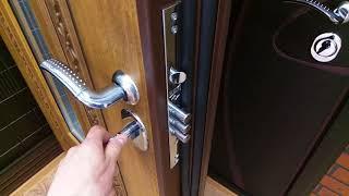 видео Дверь с коваными элементами и замком Kale
