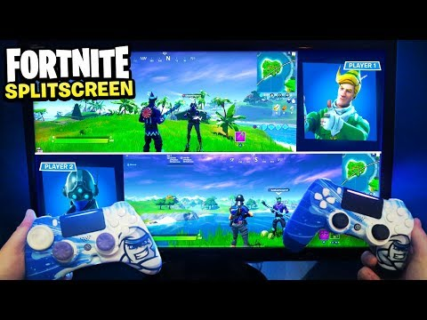 How To SPLIT SCREEN On Fortnite! PLAY FORTNITE SPLIT SCREEN TUTORIAL! (PS4/XBOX ONE)