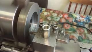 Часть 1. Изготовление переходной планшайбы под  патрон 125 мм на шпиндель 100мм для Корвет-401(, 2018-02-02T06:11:19.000Z)
