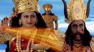 माँ शेरावाली और महिषासुर  संग्राम   देखिये ,कैसे रूप बदलकर भगा था महिषासुर   BR Chopra  Hindi Serial thumbnail