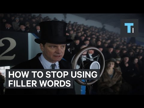 How to stop using filler words like