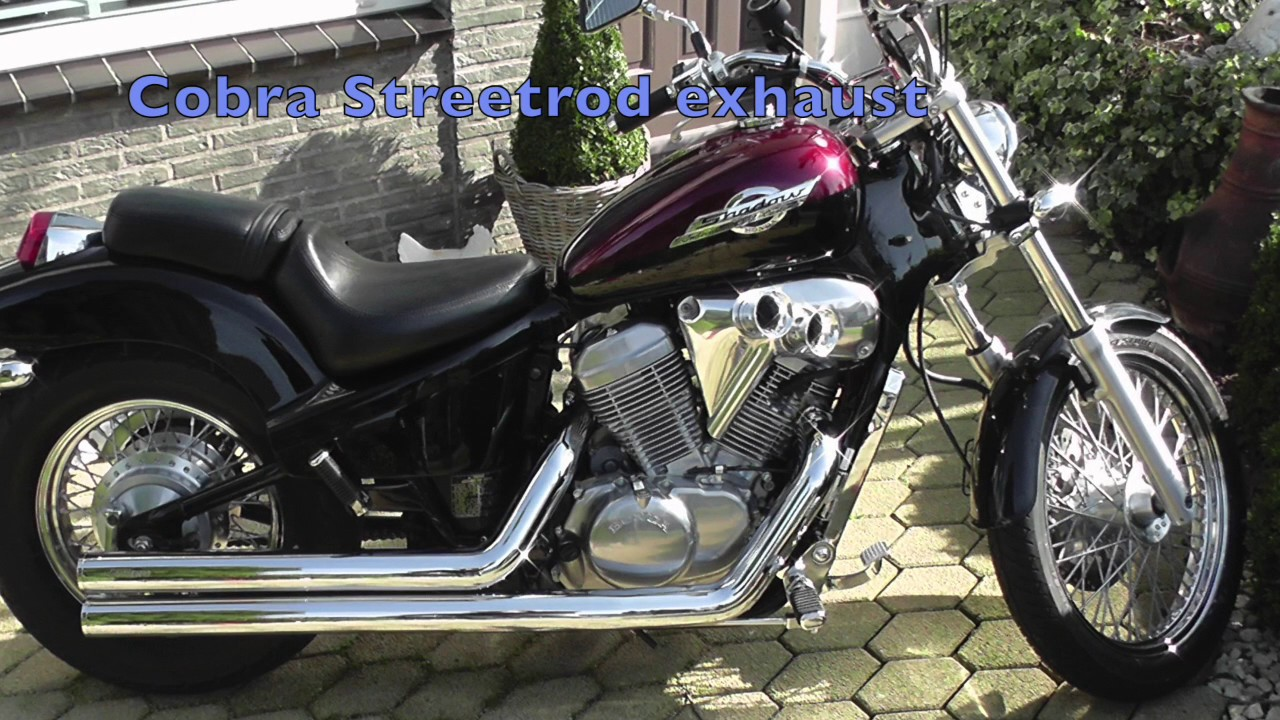 Honda Shadow 600 Cobra Streetrod Vs Stock Exhaust