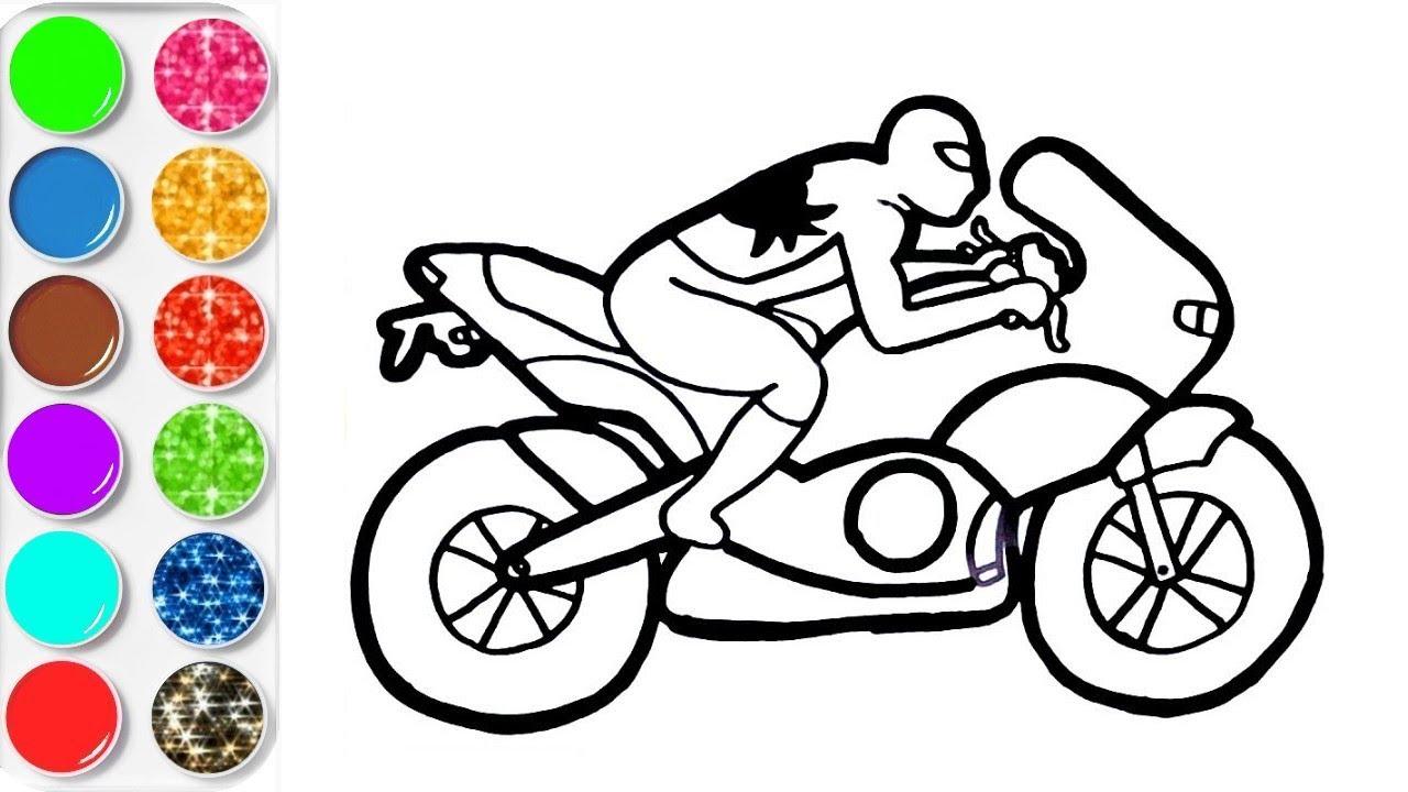 Apprendre A Dessiner Moto Spiderman Colorier Video Educative