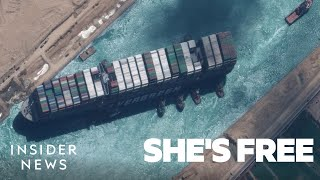 How The Ever Given Finally Made It Through The Suez Canal