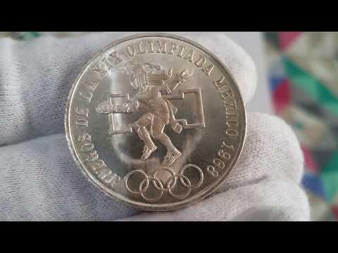 1968 Mexico Silver 25 Pesos Olympic Coin