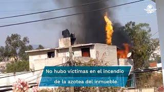 Los hechos ocasionaron temor entre vecinos que escucharon una explosión y visualizaron las llamas que se generaron en el inmueble