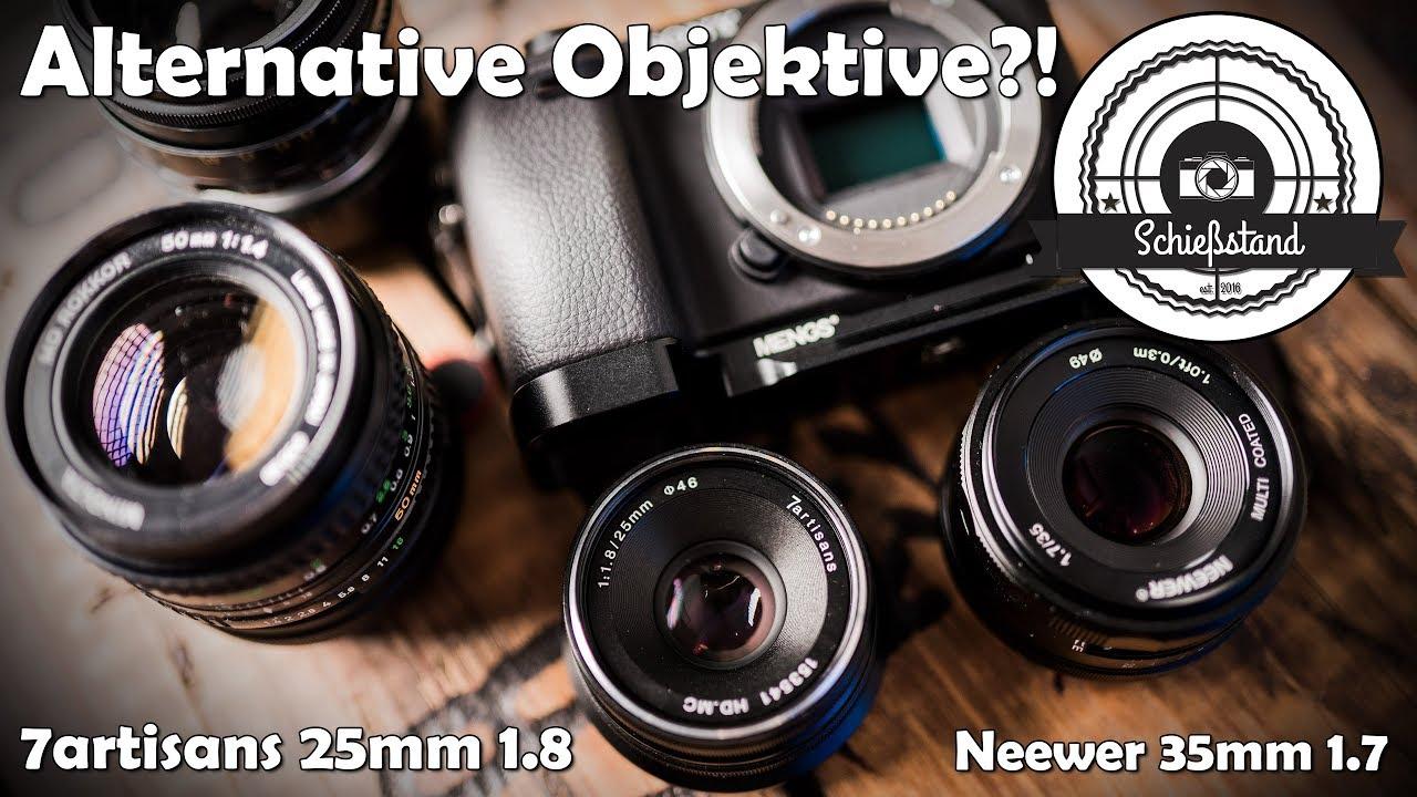 📷 Alternative Objektive - 7artisans 25mm 1.8 & Neewer 35mm 1.7 für ...