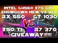 Intel G4560 75 GPU Fight RX 550 Vs GT 1030 Vs GTX 750Ti Vs R7 370 1080p Gaming Benchmarks mp3