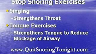 Stop Snoring Exercises